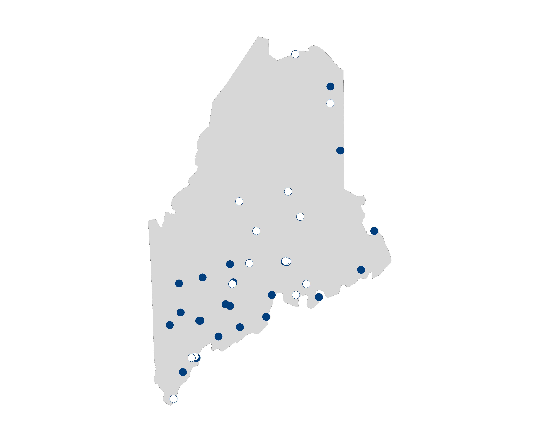 hospital palliative care map for Maine