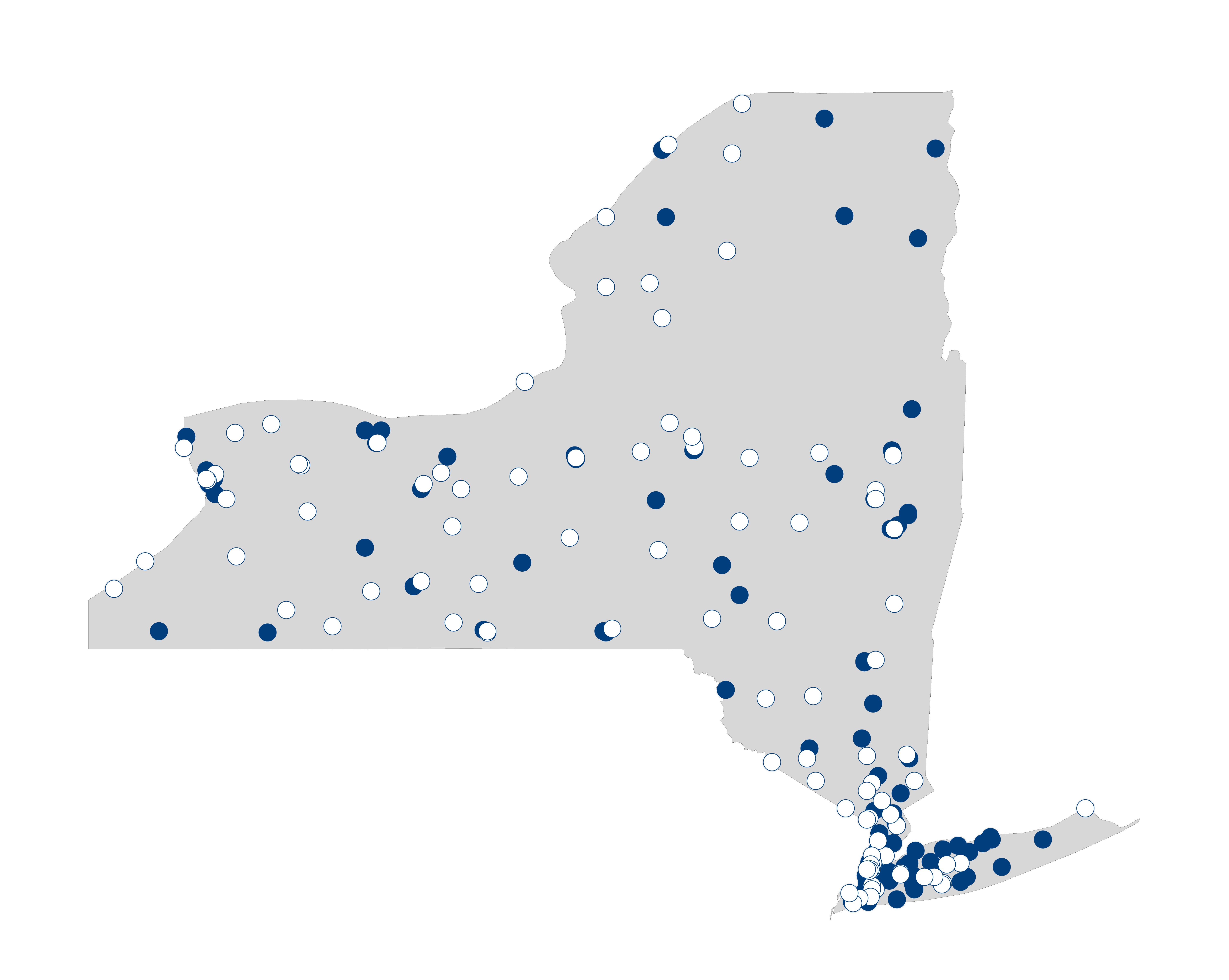 hospital palliative care map for New York