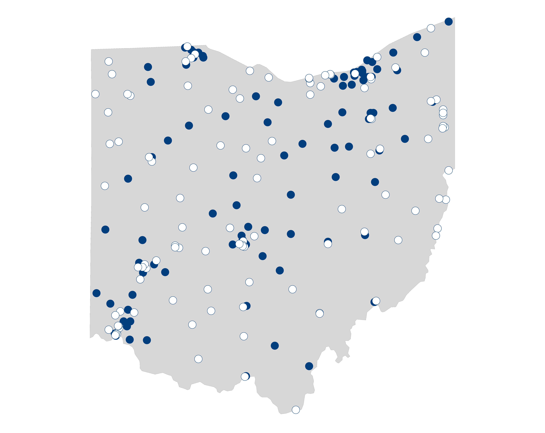 hospital palliative care map for Ohio